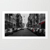 milan Art Prints featuring Milan by O.K.