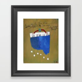 My Blue Piano Framed Art Print