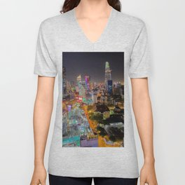City Under Construction Unisex V-Neck