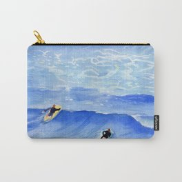 Getting ready to take this wave surf art Carry-All Pouch
