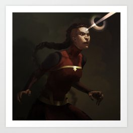 combustion woman Art Print