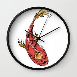 Red Dream Fish Wall Clock