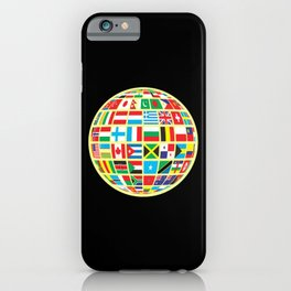 World Map Globe Atlas National Flags Earth Day iPhone Case