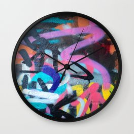 Street Art Graffiti Photography by Dominic Joyce Wall Clock