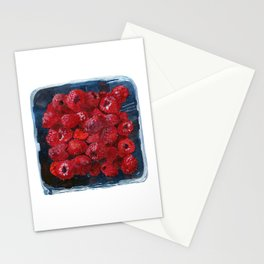 Watercolor Raspberries by Artume Stationery Cards