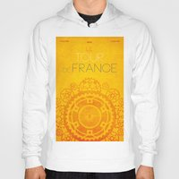 tour de france Hoodies featuring Tour De France 2014 Poster by Patrick Anthony Leverton