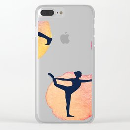 Yoga Mats Most Important Yoga Poses - inner yogi yoga positions in one mat Clear iPhone Case