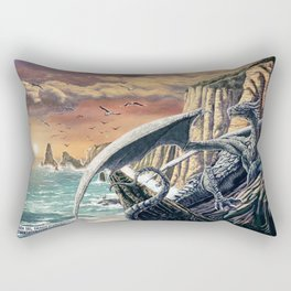 The Leggend of the Silver Dragon Rectangular Pillow