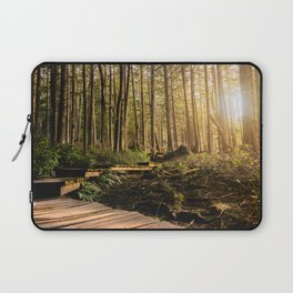 Forest Mountain Wanderlust Boardwalk - Nature Photography Laptop Sleeve