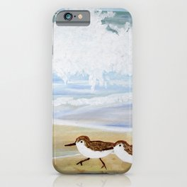 Sandpipers at Emerald Isle iPhone Case