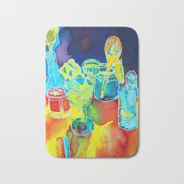 Food Service, Café Illustration Bath Mat