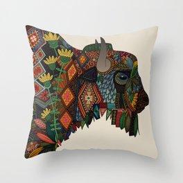 bison bone beige Throw Pillow