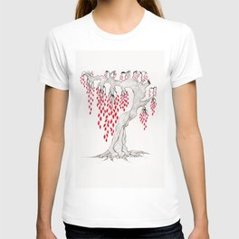 Red Leaved Tree by Laura Rolling T-shirt