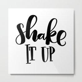 Shake It Up: white Metal Print
