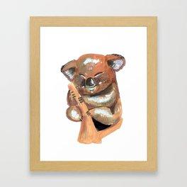 Kawaii Koala Framed Art Print
