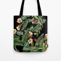 botanical Tote Bags featuring BOTANICAL  by sametsevincer