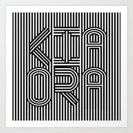 KiaOra New Zealand Greeting (Square) Art Print