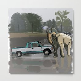 What if I had an Elephat Metal Print