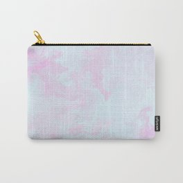 Abstract teal magenta pink watercolor marble pattern Carry-All Pouch