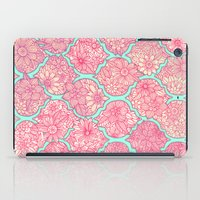 moroccan iPad Cases featuring Moroccan Floral Lattice Arrangement in Pinks by micklyn