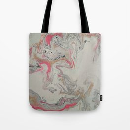 Pink and Gold Marble Print Tote Bag