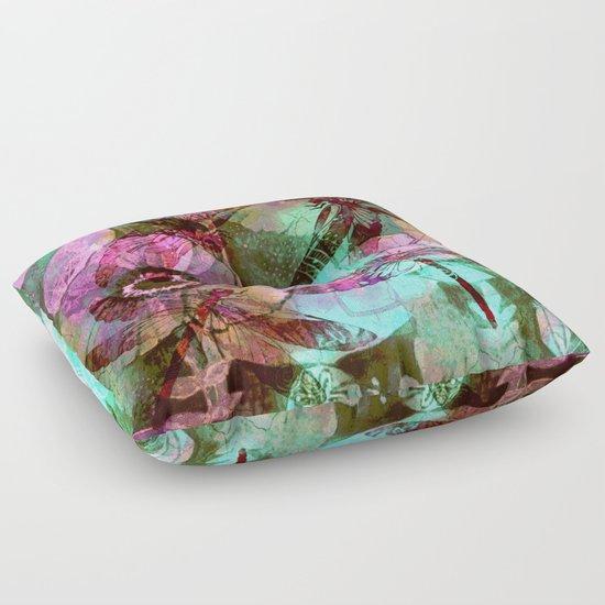 Dragonflies in a Dream Floor Pillow