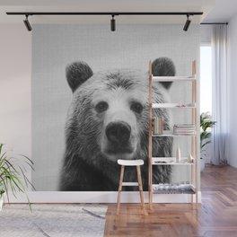 Bear - Black & White Wall Mural