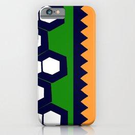 Gem Stripe - Orange, Green, Navy, White iPhone Case