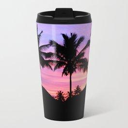 Sunset Palm Trees Travel Mug