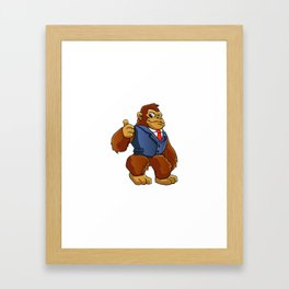Gorilla in suit. Framed Art Print