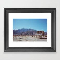 Palm Springs Windmills X Framed Art Print