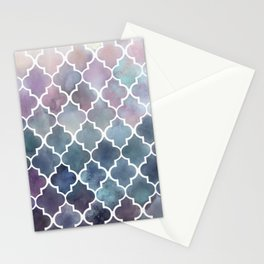 Autumn Colors Moroccan Pattern Stationery Cards