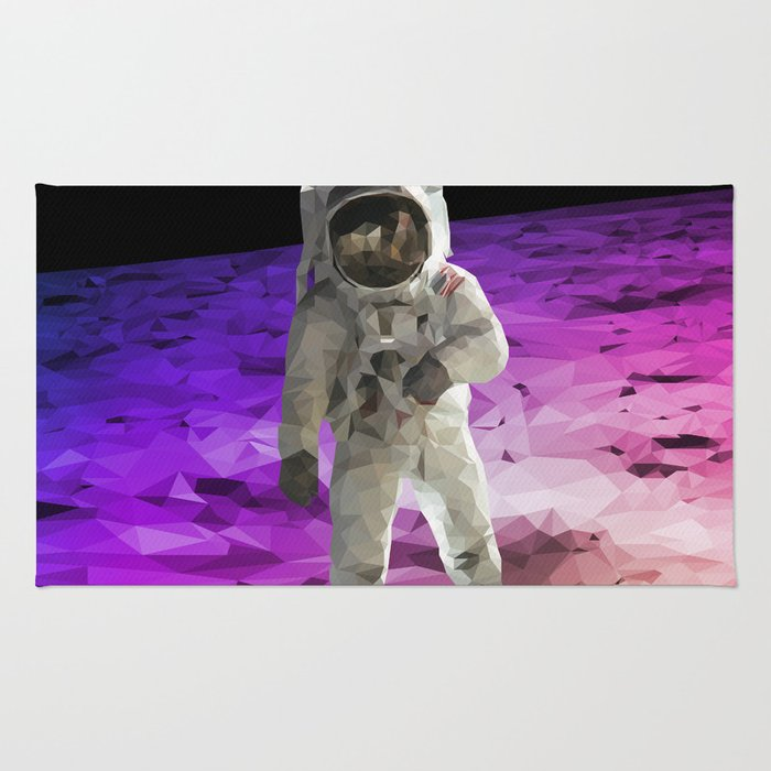 Astronaut Low Poly Rug