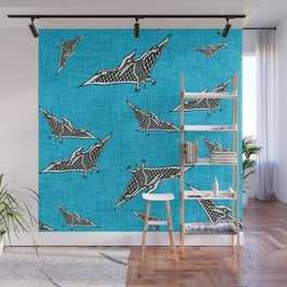 pterosaur flying dinosaur blue Wall Mural