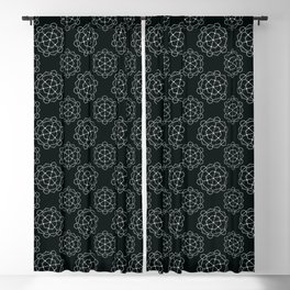 Decoish - White on Black - Set 8 Blackout Curtain