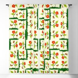 Plants and flowers Blackout Curtain
