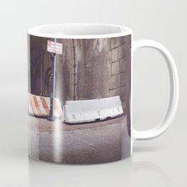 Under the Brooklyn Bridge, a Shutdown Skatepark Coffee Mug