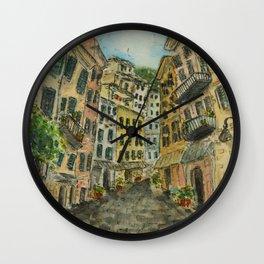 Cobblestone Streets Wall Clock