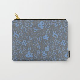 Ampersands - Blue Gray Carry-All Pouch