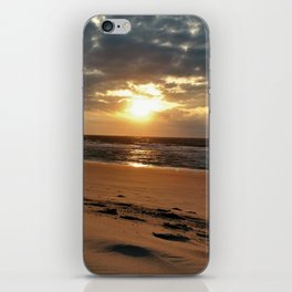 Netherlands Zeeland Ouddorp Beach Summer Late Sunset iPhone Skin