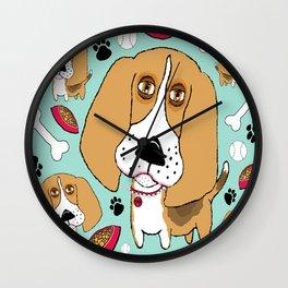 Beafus the Bad Boy Beagle Wall Clock