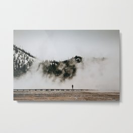 The Woman and the Geyser Metal Print