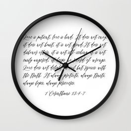 Love is Patient Wall Clock
