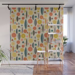 Mid Century Modern Eucalyptus with Retro Vibes Wall Mural