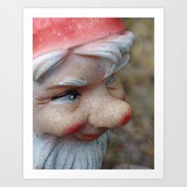 nosy gnome Art Print
