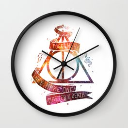 galaxy deadly hollow harrypotter Wall Clock