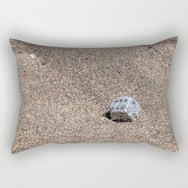 A Die in the Sand Rectangular Pillow