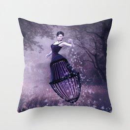 Black magic fairy Throw Pillow