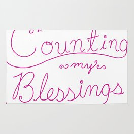 Counting Blessings Rug