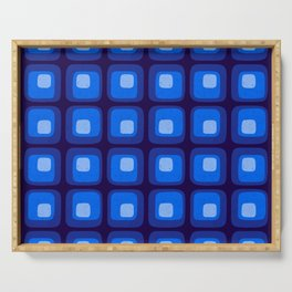 60s Blue Mod Serving Tray